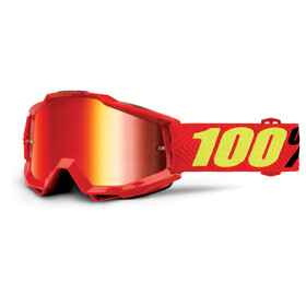 100% Accuri Anti Fog Mirror Goggles rød